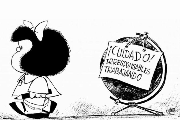 Quino, el creador de Mafalda, fue homenajeado en la inauguración del festival digital organizado por los dibujantes argentinos