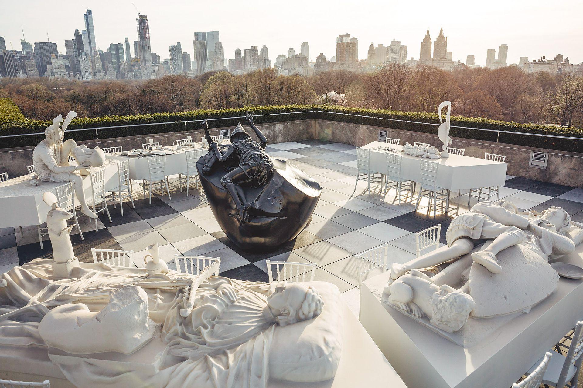 Vista de El teatro de la desaparición en la terraza del Museo Metropolitano de Nueva York (2017)
