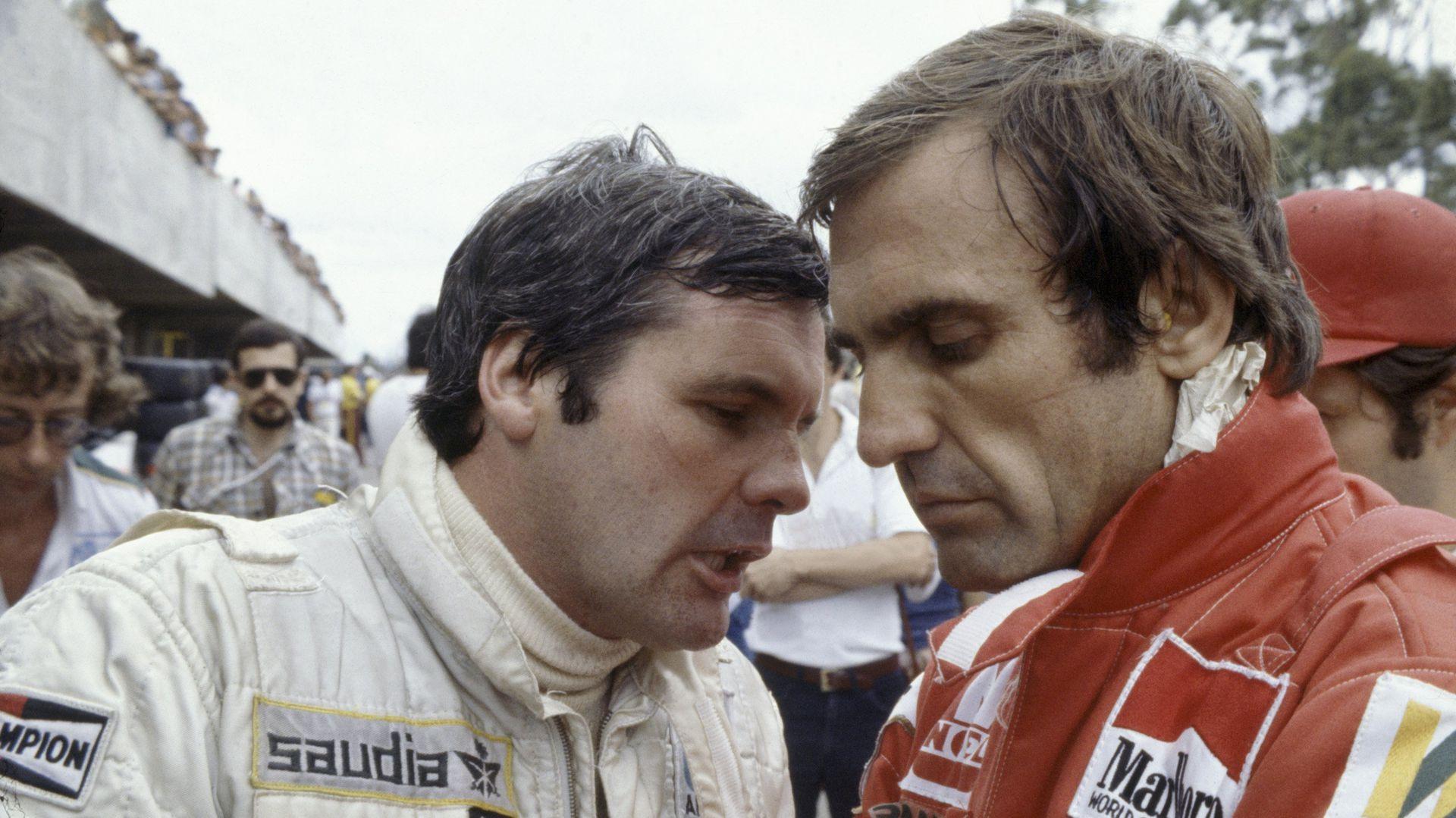 Alan Jones y Carlos Reutemann, enemigos íntimos a partir del Gran Premio de Brasil 1981; cuando la Fórmula 1 se presentó dos semanas después en la Argentina, el australiano fue abucheado por el público