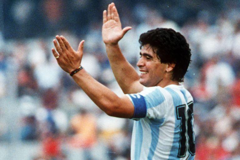 Maradona, en pleno México 86