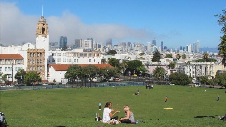 Vista panorámica de la ciudad desde el Dolores Park