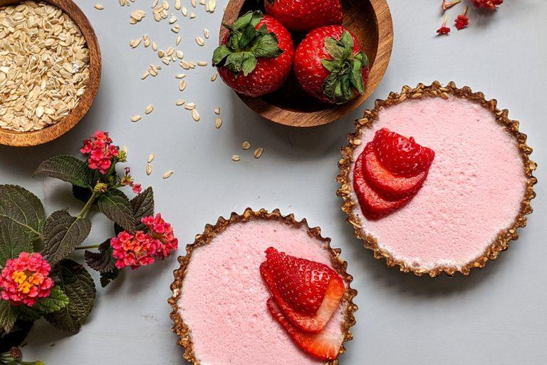 Tartitas integrales de frutillas (con proteínas)