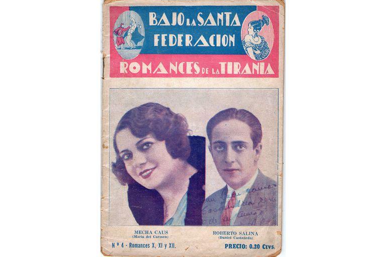 Afiches de Bajo la santa Federación (1933) de Héctor P. Blomberg y Carlos Viale Paz, con reconstrucción bibliográfica de la época de Rosas