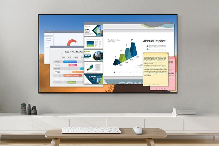 La pantalla 8K del Q800T puede usarse también como monitor, o para conectar las nuevas consolas de videojuegos, que aprovecharán su máxima resolución