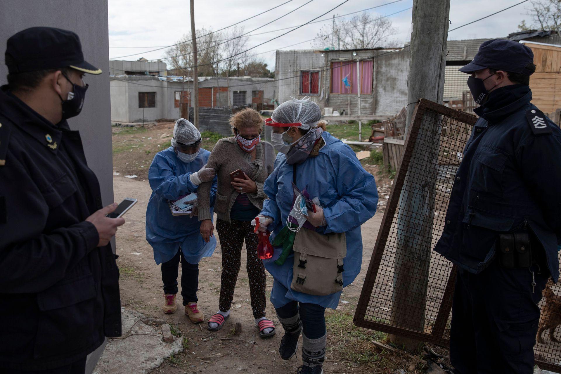 Coronavirus en barrios vulnerables, imagen de la Villa Azul