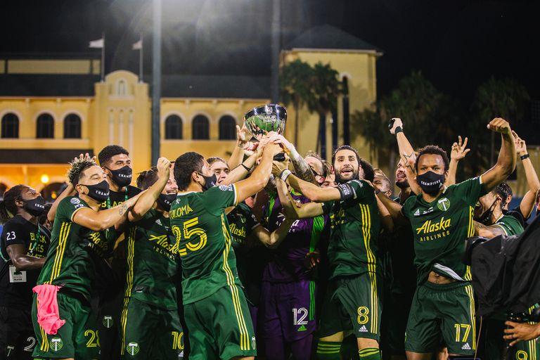 Campeones. Sebastián Blanco y Valeri ganaron el torneo de la MLS con Portland