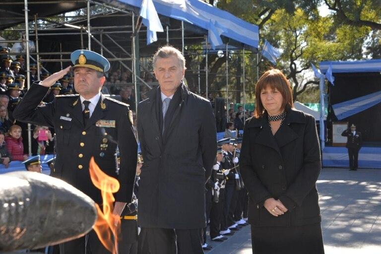 El presidente Mauricio Macri estuvo en el acto en homenaje a los policías caídos, el pasado 2 de julio