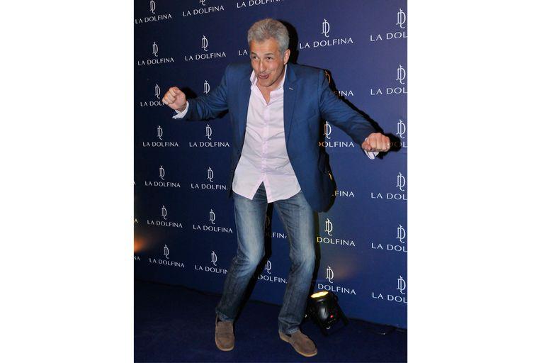 Ivo Cutzarida se mostró muy divertido al llegar al evento de polo
