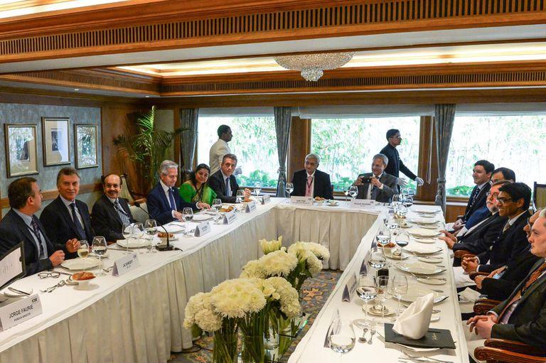 Macri, en un almuerzo con 15 empresarios destacados de la India
