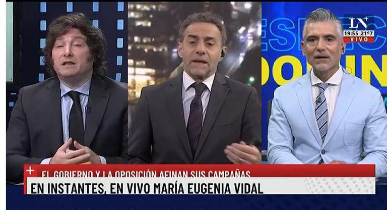 El tenso cruce de Luis Majul con Javier Milei