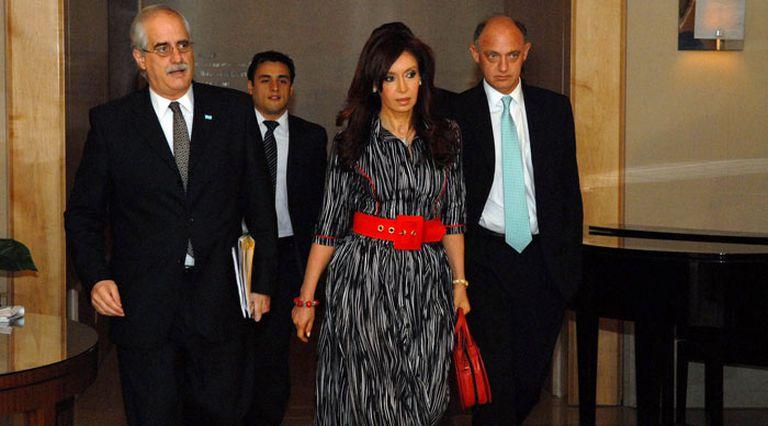 Cristina Kirchner, Jorge Taiana y Héctor Timerman