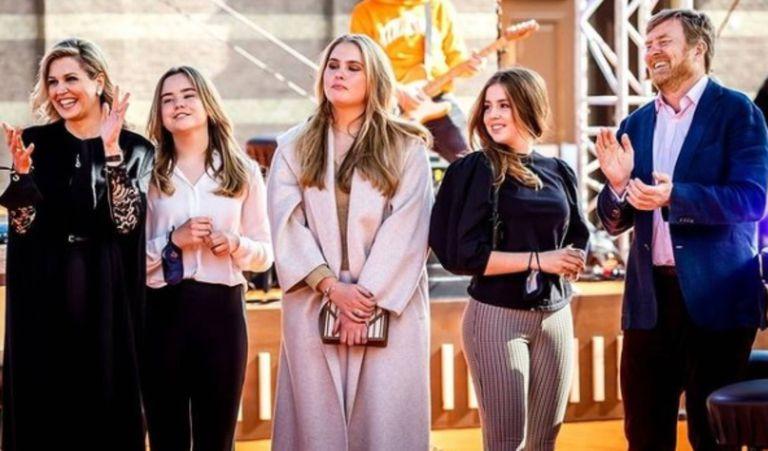Faceta desconocida: el gesto de Máxima y sus hijas que sorprendió en Holanda