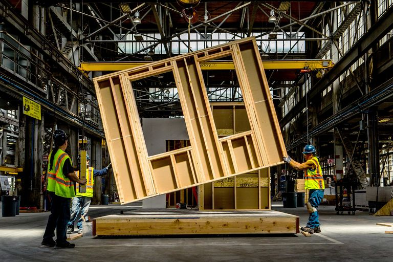 Estos departamentos se construyen en una fábrica y se ensamblan como Legos