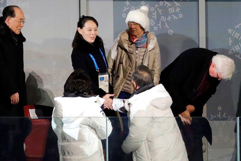 Pyeongchang: el presidente de Corea del Sur saludó a la hermana de Kim Jong-Un
