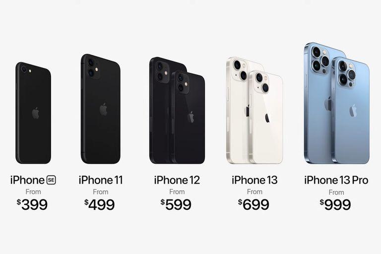 Cuánto sale el iPhone 13, y cómo quedan los anteriores modelos