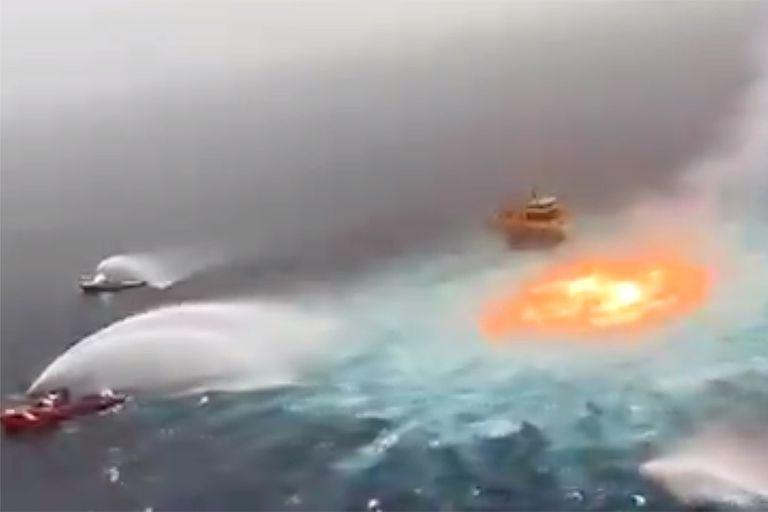Explosión en el Golfo de México