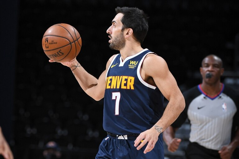 Facundo Campazzo tuvo su debut oficial en la NBA con Denver Nuggets