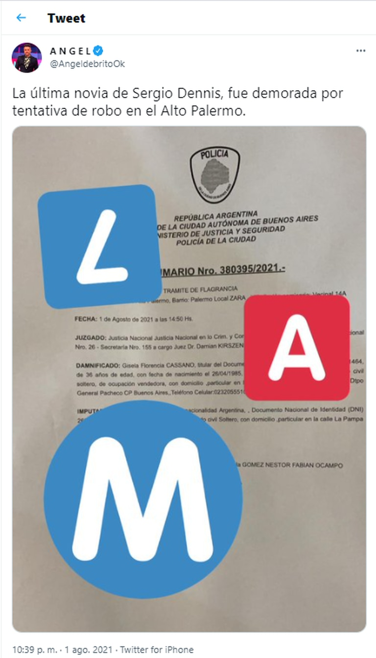La denuncia realizada por las empleadas del local de ropa en el que Verónica Monti habría intentado llevarse dos pares de calzado