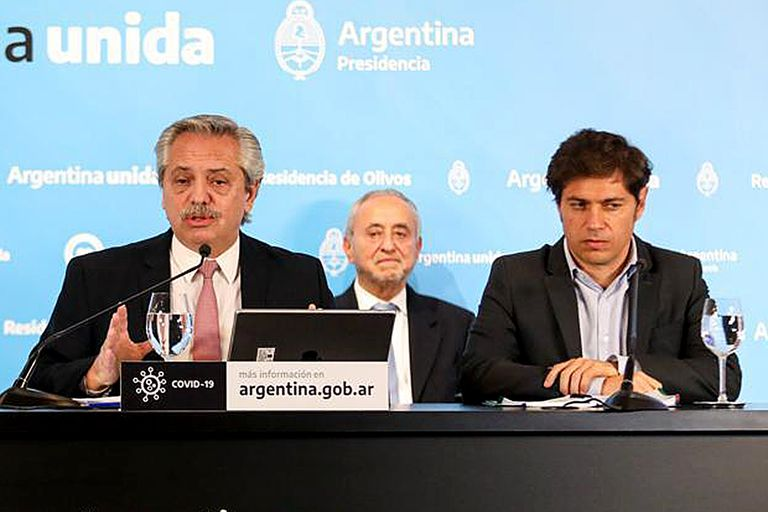 El anuncio de Fernández fue junto a Kicillof y Larreta