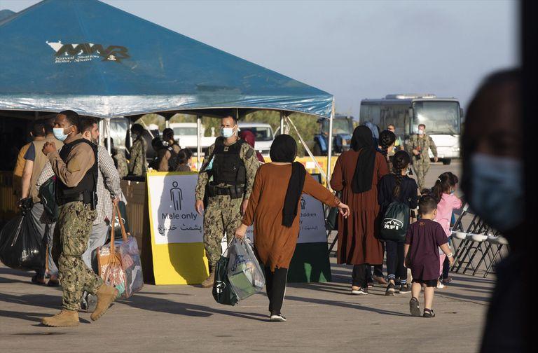31-08-2021 Dispositivo de atención a los evacuados de procedentes de Afganistán por parte de EEUU en el marco de la operación ' Allies Refuge', en la Base Naval de Rota. A 31 de agosto de 2021, en Rota (Cádiz, Andalucía, España). POLITICA María José López - Europa Press