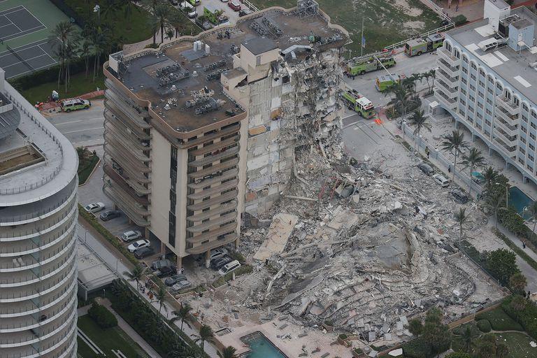 Así se ve ahora el edificio que se derrumbó en Miami