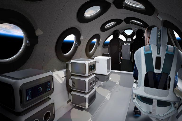 Virgin Galactic presentó el interior de su nave SpaceShipTwo, que ofrecerá vuelos espaciales