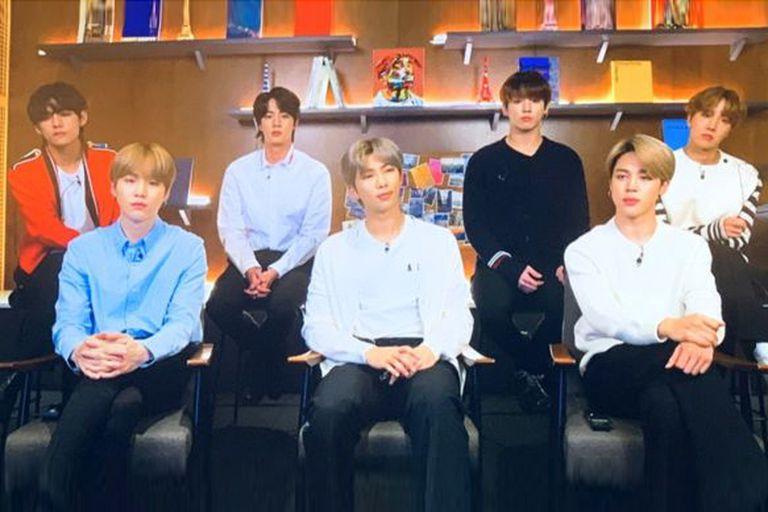 """La banda BTS durante su anuncio de su nuevo proyecto """"Connect BTS"""", esta semana"""