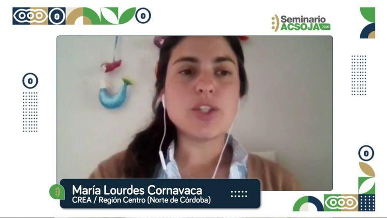 La ingeniera agrónoma María Lourdes Cornavaca, responsable técnica de la Mesa Agrícola CREA Córdoba Norte