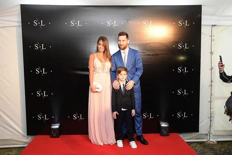 Lionel Messi, Antonela Roccuzzo y Thiago Messi