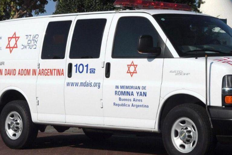 """Conmovedor: la """"ambulancia Romina Yan"""" que emociona a los fanáticos de Israel"""