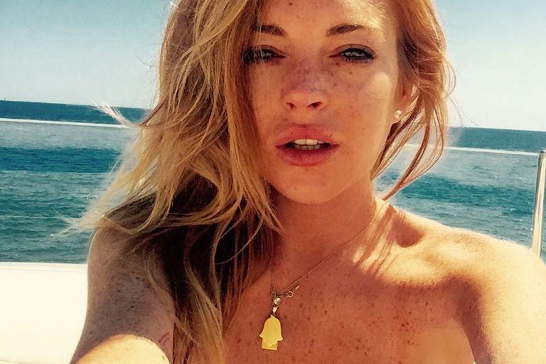 Lindsay Lohan festejó sus 33 con una foto desnuda