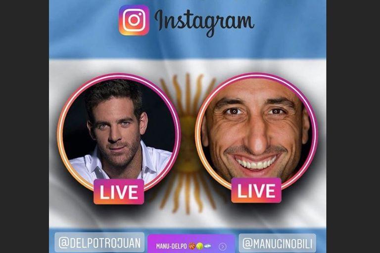 Del Potro y Ginóbili compartieron una charla abierta en Instagram