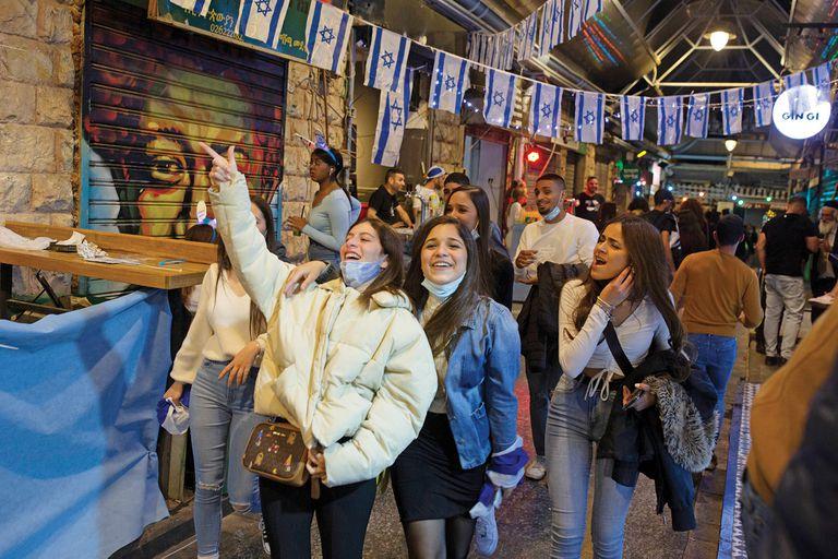 Celebraciones en el Día de la Independencia en Jerusalén, después de más de un año de restricciones por coronavirus, en abril.