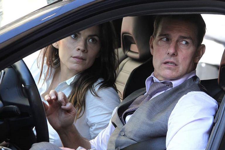 Tom Cruise y Hayley Atwell, en una escena de Misión Imposible 7