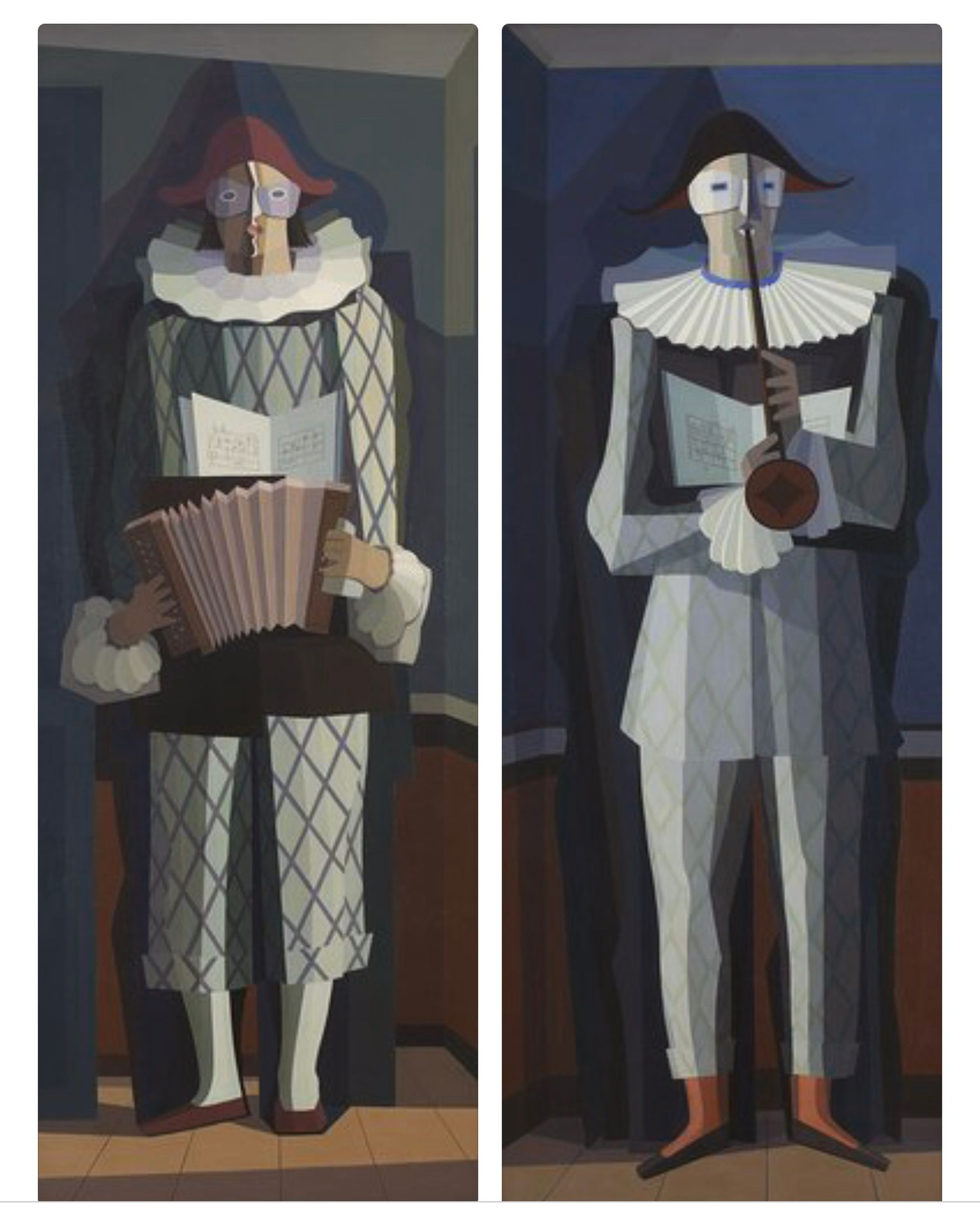 El indeciso y La Resistencia, obras de 1950 que pertenecen a la Colección Amalita