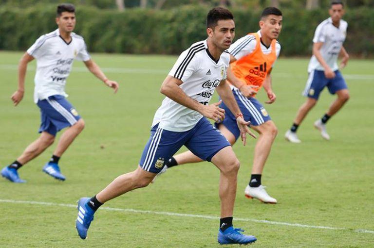 Pity Martínez debutará con la camiseta argentina esta noche, ante Guatemala