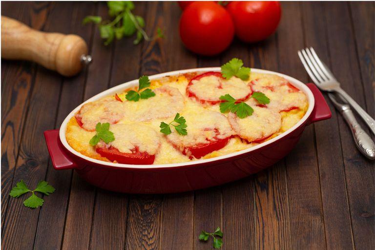 Papas y tomates al horno