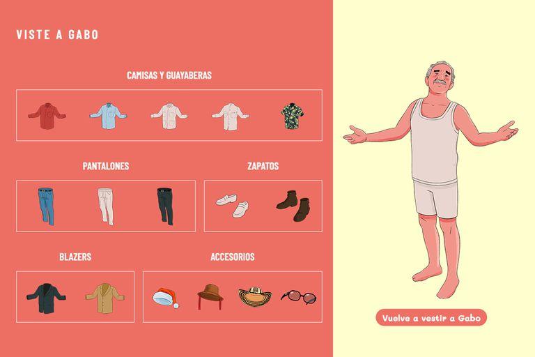"""""""Viste a Gabo"""": guayabera, pantalón, blazer, zapatos y hasta sombreros"""