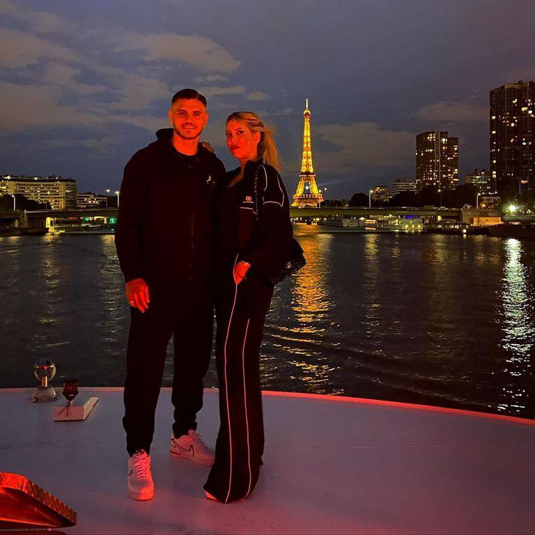 La fiesta con amigos que Wanda e Icardi disfrutaron con la Torre Eiffel de fondo