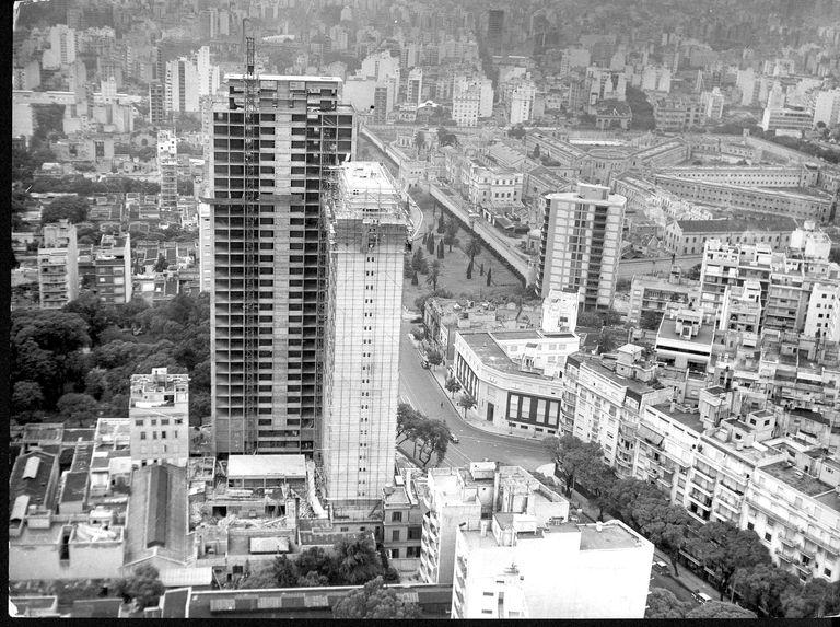 Vista aérea de la Penitenciaría y sus alrededores, tomada el 10 de enero de 1962, poco antes de su demolición.