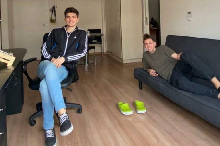 Federico y su primo decidieron alquilar juntos para afrontar los gastos