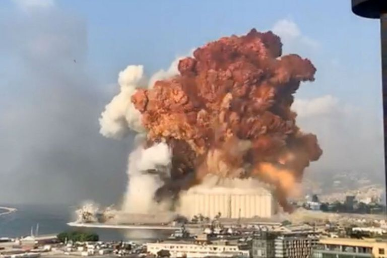 Explosión en el puerto de Beirut, Líbano, en 2020