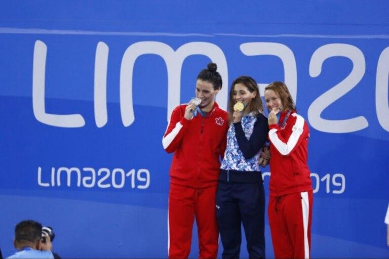 Delfina Pignatiello dio el primer oro para Argentina en La Videna; después, Virginia Bardach dio otro batacazo