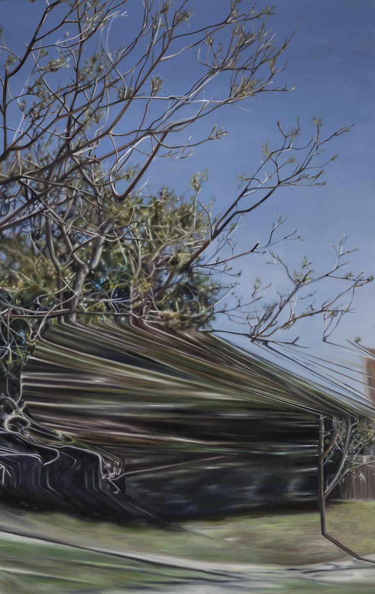 """La artista reproduce el """"glitcheado"""" de las tomas del auto de Google Street View"""