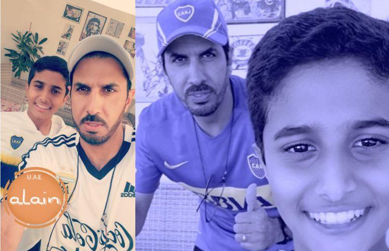 Sultán y su hijo Abdullah, fanáticos de Boca y de la Argentina