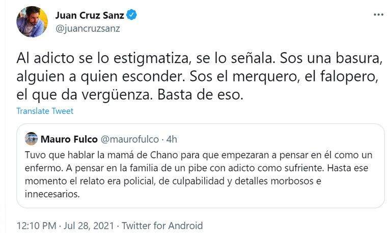 El pedido de Juan Cruz Sanz para que no se estigmatice a las personas que luchan contra las adicciones
