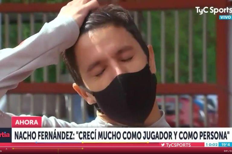 Nacho Fernández: dejó River y en su despedida se quebró al recordar a Maradona