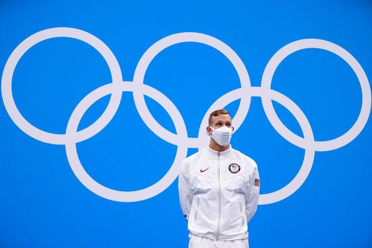 Caeleb Dressel y un momento inolvidable: situarse en lo más alto del podio olímpico.