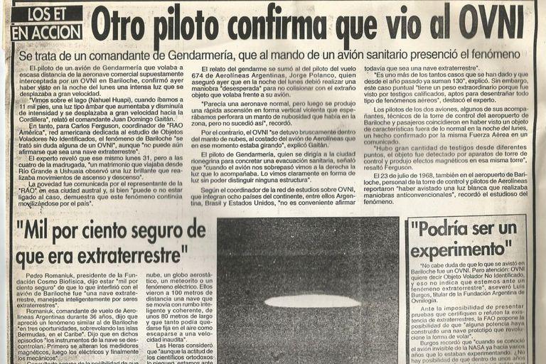 Un piloto de Gendarmería confirmó los dichos de Polanco