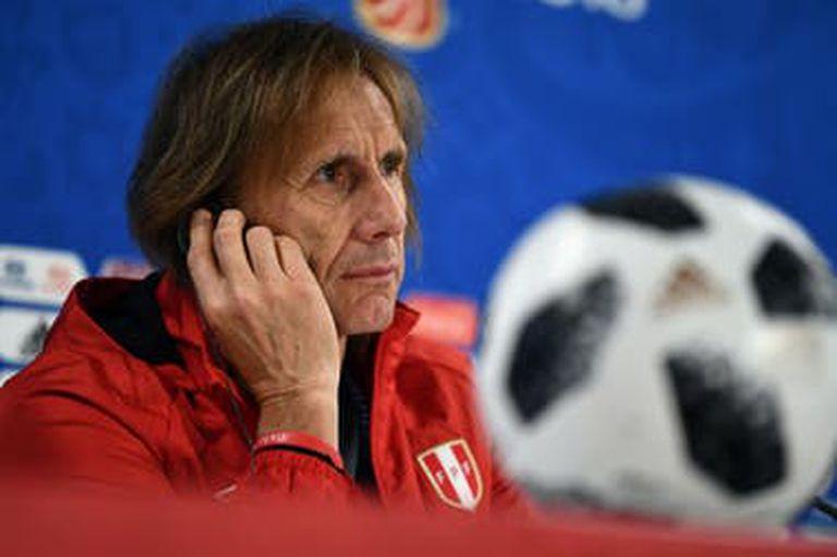 Ricardo Gareca, DT argentino de la selección de fútbol de Perú.